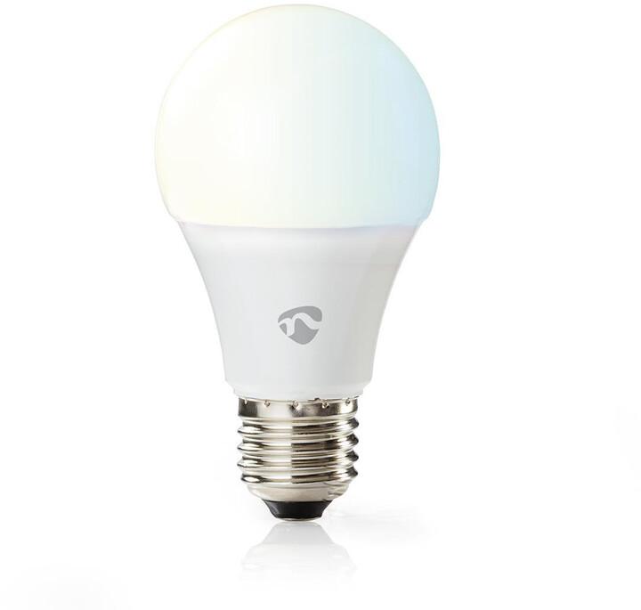 Nedis WiFi chytrá LED žárovka, teplá až studená bílá, E27