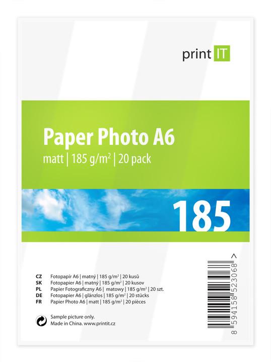 PRINT IT Paper Photo A6 185 g/m2 Mate 20ks