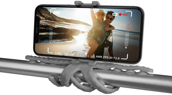 """CELLY flexibilní držák s přísavkami Squiddy pro telefony do 6,2"""", šedý"""