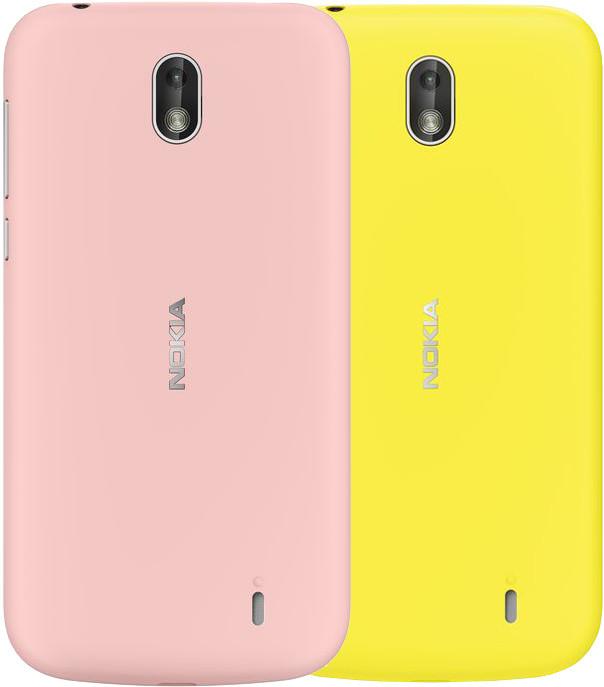 Nokia kryt Xpress-on Dual Pack pro Nokia 1, plastic, Pink & Yellow