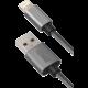 YENKEE YCU 601 GY USB / lightning kabel 1 m, stříbrná