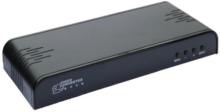 PremiumCord konvertor, komponent a kompozit video,VGA a audio na HDMI