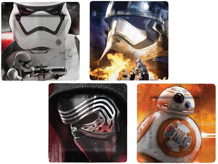 Talíře Star Wars - BB-8, Stormtrooper, Kylo Ren a Phasma (sada 4 kusů)