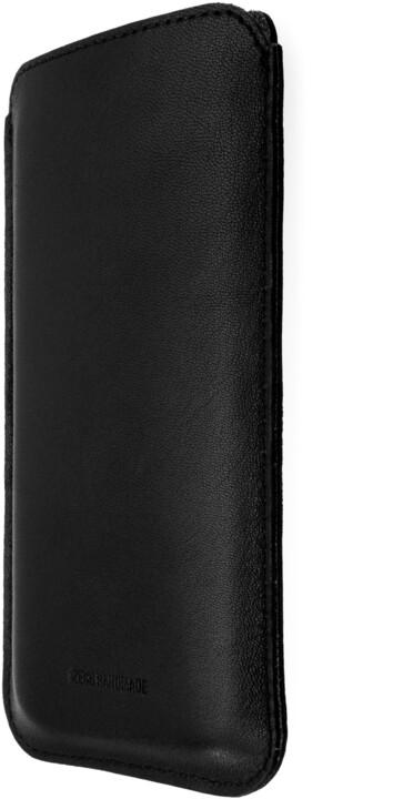 FIXED Slim pouzdro z pravé kůže pro Apple iPhone 11 Pro/XS/X, černé