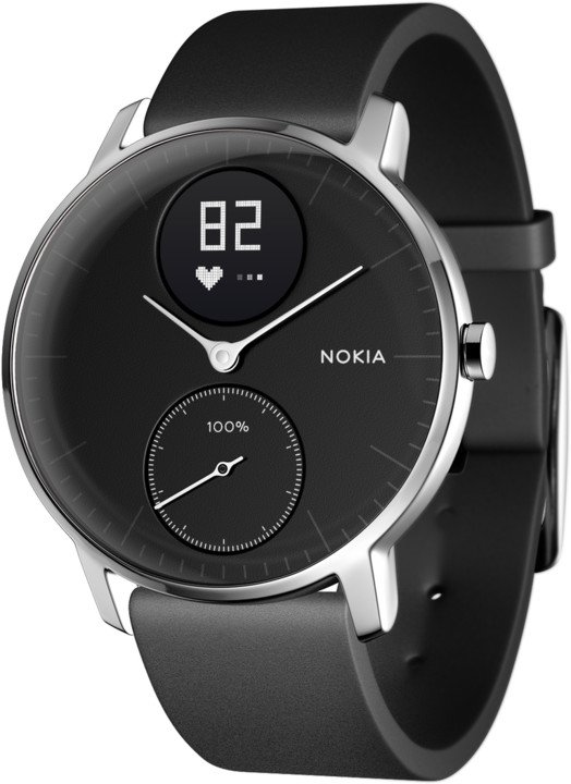 Nokia chytré hodinky Steel HR (36mm) - černá