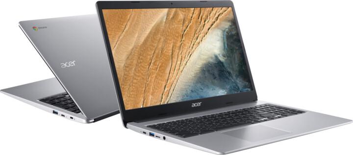 Acer Chromebook 315 (CB315-3H-C6HK), stříbrná