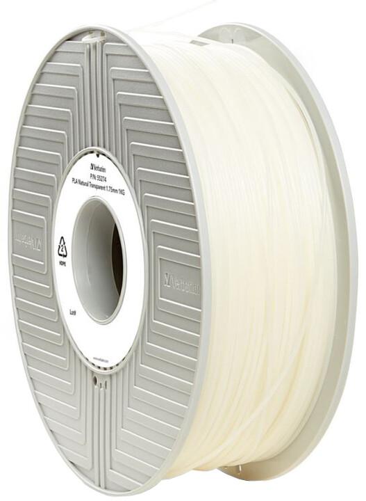 Verbatim tisková struna (filament), PLA, 1,75mm, 1kg, transparentní