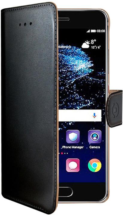 CELLY Wally Pouzdro typu kniha pro Huawei P10 Plus, PU kůže, černé