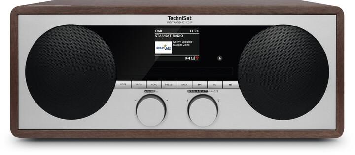 TechniSat DigitRadio 451 CD IR, tmavě hnědá