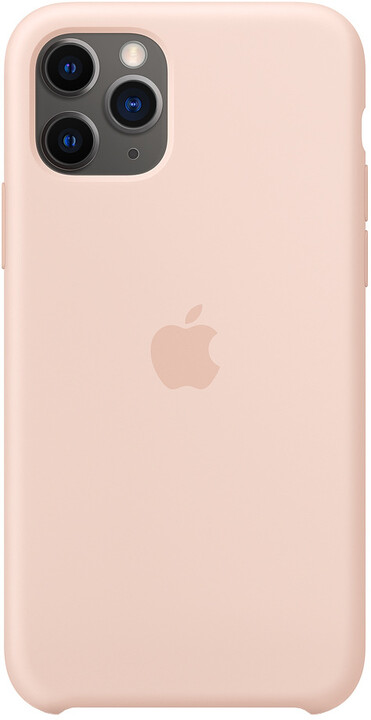 Apple silikonový kryt na iPhone 11 Pro, pískově růžová
