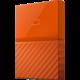 WD My Passport - 4TB, oranžová  + Energetický nápoj RedBull 355ml v hodnotě 49 Kč