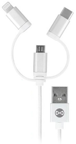 Forever datový kabel USB 3IN1 pro APPLE IPHONE 5, MICRO USB, C-TYP, bílý (TFO-N)
