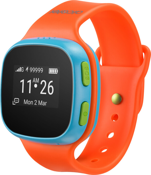 ALCATEL MOVETIME Track&Talk Watch, Orange/Blue