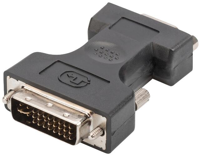 Digitus adaptér DVI-I(24+5) - VGA (15-pin), M/F, černá
