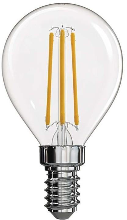 Emos LED žárovka Filament Mini Globe 4W E14, teplá bílá