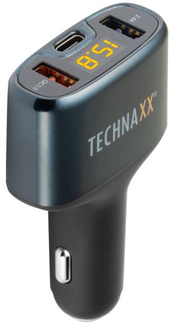 Technaxx nabíječka do auta QC 3.0, USB-A a USB-C (TE18)