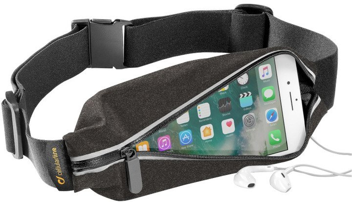 CellularLine WAISTBAND, SUMMER EDITION, sportovní pouzdro s kapsou na příslušenství, design Melange