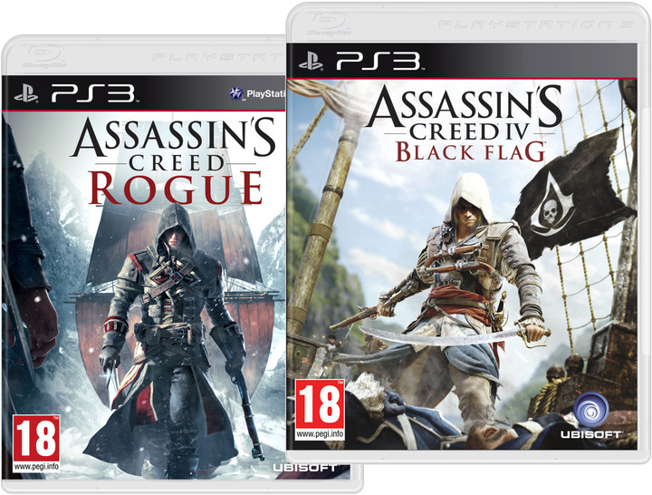 Assassin's Creed IV: Black Flag a Assassin's Creed: Rogue Doublepack (PS3)