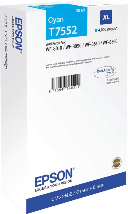 Epson C13T755240, azurová XL