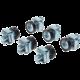 PremiumCord sada montážní do racku, 50x šroub M6, 50x nut, 50x plastová podložka