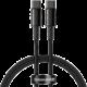 BASEUS kabel USB-C - USB-C, rychlonabíjecí, datový, 100W, 1m, černá