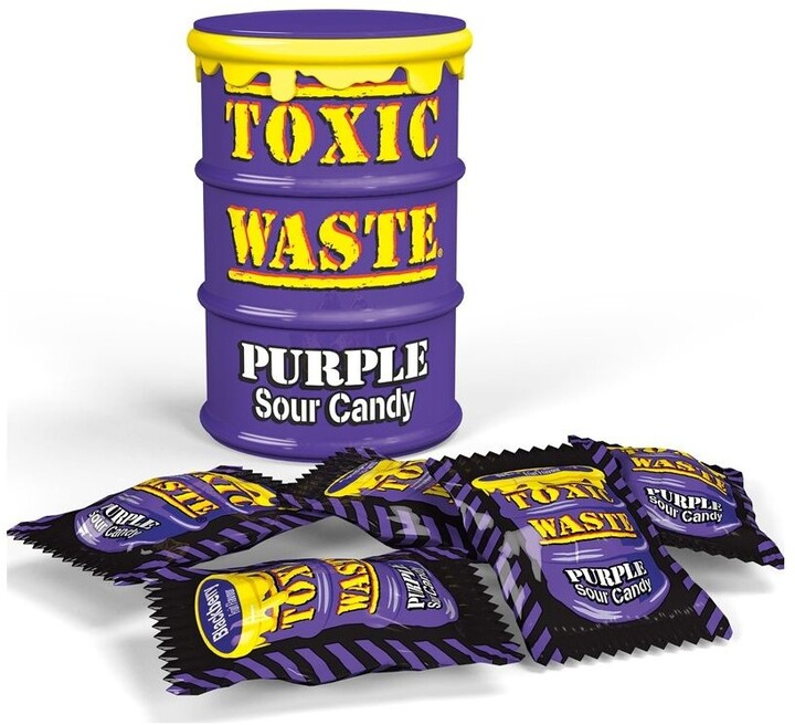 Toxic Waste Purple Drum Extreme Sour Candy 42 g