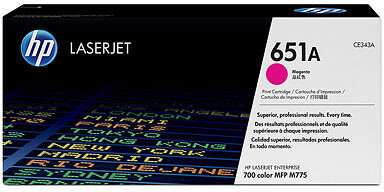 HP CE343A, magenta
