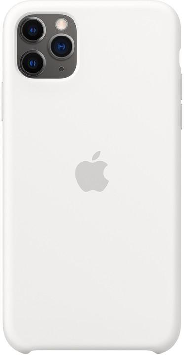 Apple silikonový kryt na iPhone 11 Pro Max, bílá