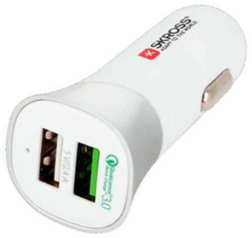 SKROSS Dual USB Car Quick Charger 3.0 nabíjecí autoadaptér, 5400mA max.