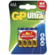 GP AAA Ultra Plus, alkalická 4ks