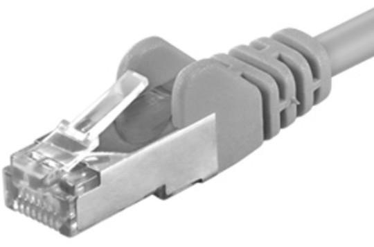 PremiumCord Patch kabel UTP RJ45-RJ45 CAT6, 0.1m, šedá
