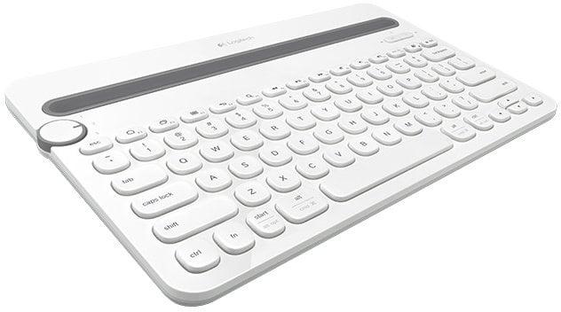 Logitech K480, US, bílá