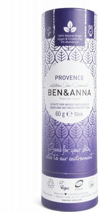 Deodorant Ben & Anna, tuhý, levandule, 60 g