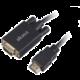 AKASA kabel k monitoru HDMI - VGA, 1920x1080p@60Hz, 2m, černá