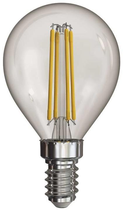 Emos LED žárovka Filament Mini Globe A++ 4W E14, neutrální bílá