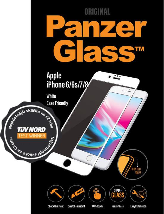 PanzerGlass Edge-to-Edge pro Apple iPhone 6/6s/7/8, bílé