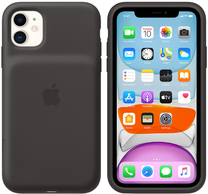 Apple iPhone 11 Smart Battery Case with Wireless Charging, black