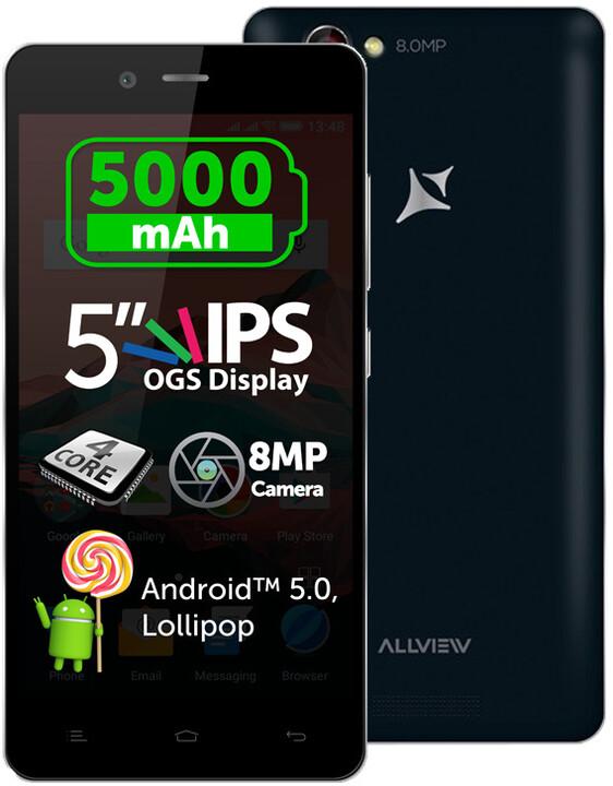 Allview P6 ENERGY, Dual Sim, černá