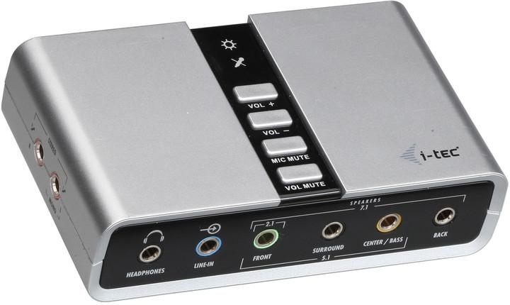 i-Tec USB 7.1 externí zvuková karta - SPDIF in/out - USB Channel Audio Adapter