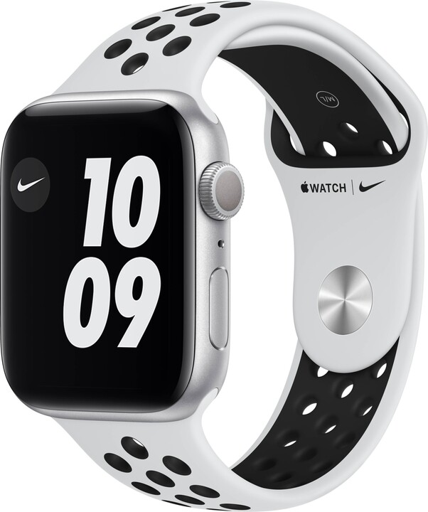 Apple Watch Nike Series 6, 44mm, Silver, Pure Platinum/Black Nike Sport Band