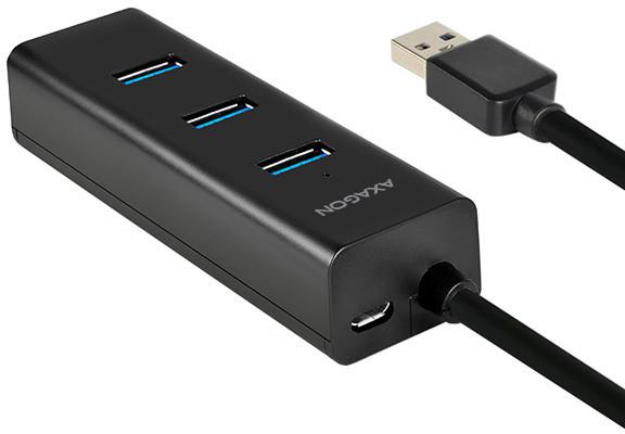 AXAGON HUE-S2BP 4x USB3.0 CHARGING hub 1.2m cable vč. AC adapteru