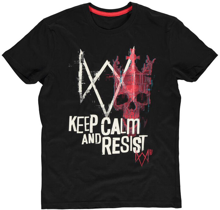 Tričko Watch Dogs: Legion - Keep Calm and Resist (M)