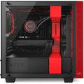 NZXT H400, okno, černočervená