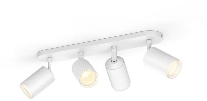 Philips bodové svítidlo Hue Fugato GU10, 4x5.7W, bílá