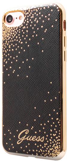 Guess Dots Soft PU Pouzdro Black pro iPhone 7