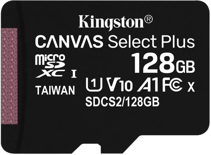 Kingston Micro SDXC Canvas Select Plus 100R 128GB 100MB/s UHS-I