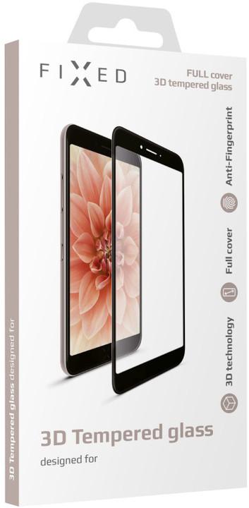 FIXED 3D Full-Cover ochranné tvrzené sklo pro Apple iPhone 6/6S Plus, s lepením, černé