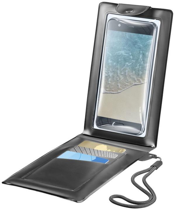 """CellularLine voděodolné pouzdro s peněženkou VOYAGER WALLET do velikosti 6,3"""", černé"""