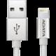 ADATA Sync & Charge Lightning kabel - USB A 2.0, 100cm, hliníková, stříbrná