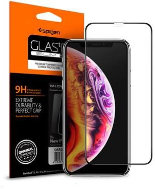 Spigen tvrzené sklo Full Cover HD pro iPhone 11 Pro/XS/X, černá